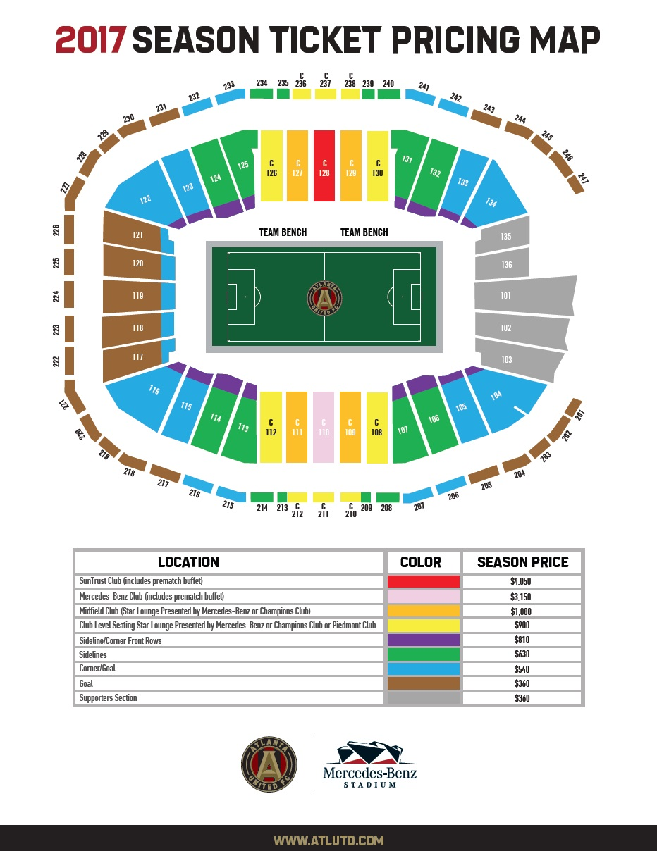 Psl phase 6 offseason 2016 2nd psl payment due page for Mercedes benz stadium seating chart falcons