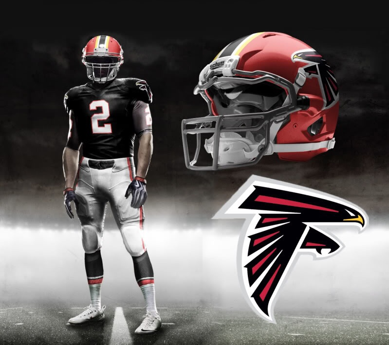 Nike Pro Combat Gloves: A Hint Of Potential New Falcon Uniform??